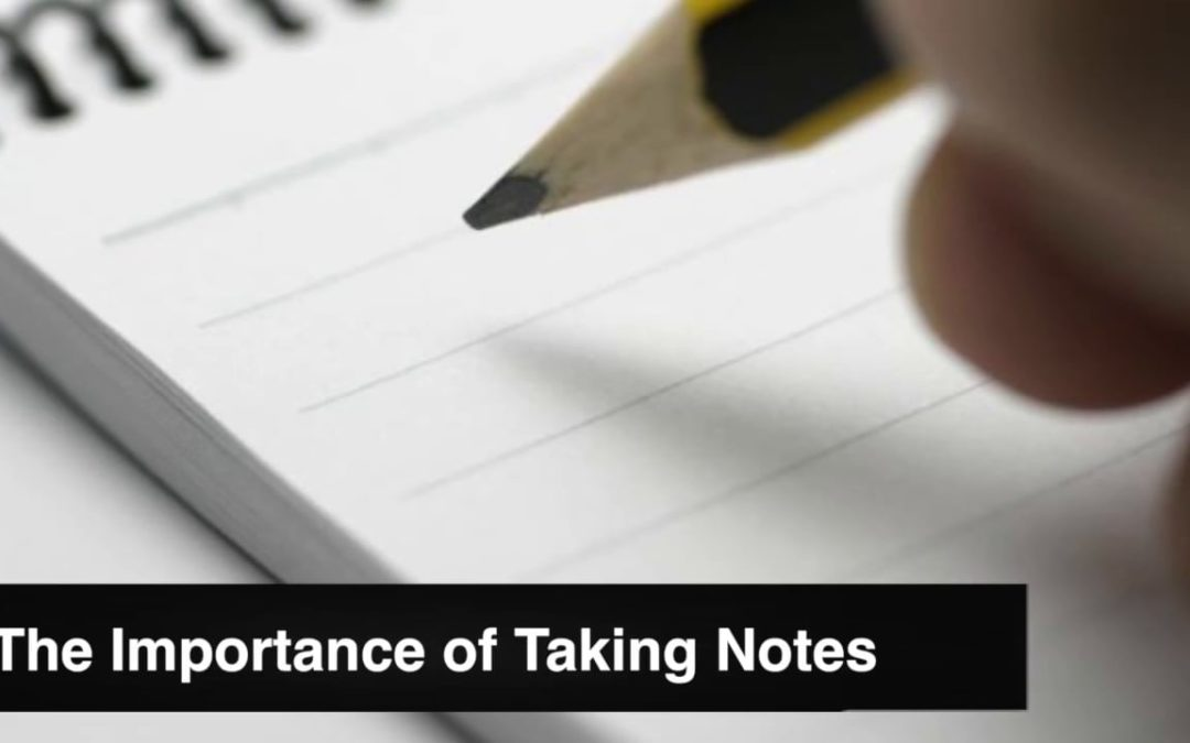 The Importance of Taking Notes in a Personal Injury