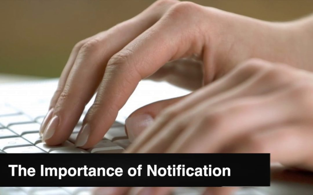 The Importance of Notification in Personal Injury