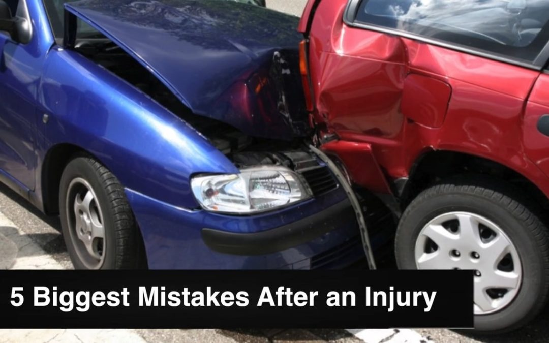 5 Biggest Mistakes After a Personal Injury Accident